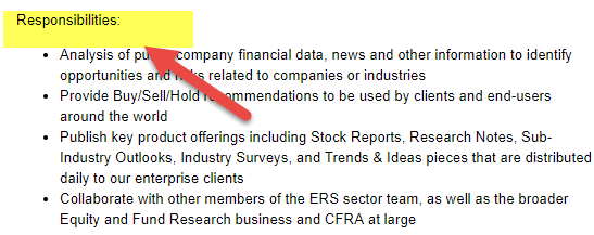 Equity Research Analyst - sell side
