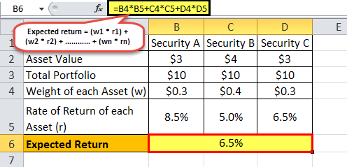 Expected Return formula example 2 .2png