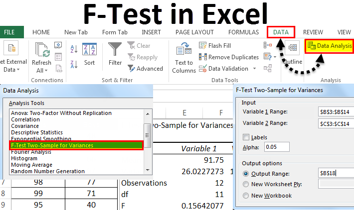 F-Test in Excel