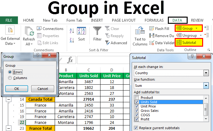 Group in Excel