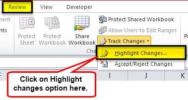 Highlight the Changes step 1-1