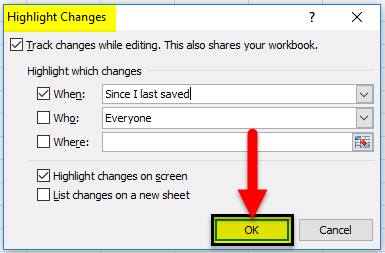 Highlight the Changes step 1-2