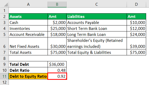 Debt to Equity Ratio - 1-6