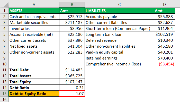 Leverage Ratios Example - 2-10