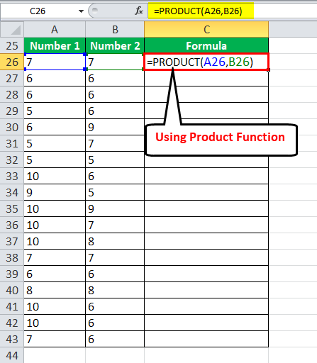 Multiply using PRODUCT FunctionExample 3-1