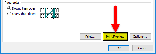 Print Gridlines using Page Setup step 5