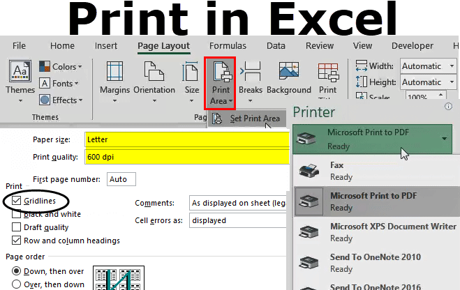 Print in Excel