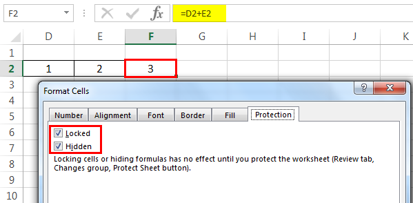 Protect sheet Example 3-1