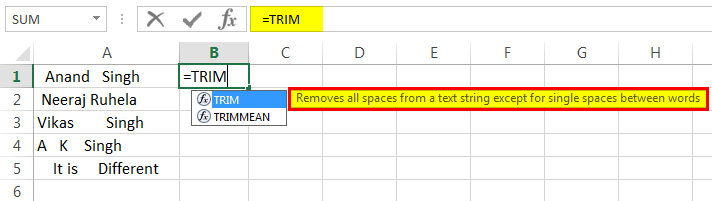 Removing space Example 1-1