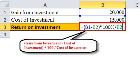 Return investment example 1-3