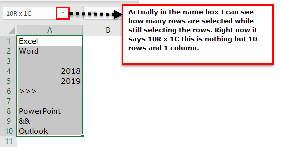 Row Count Example 1-1