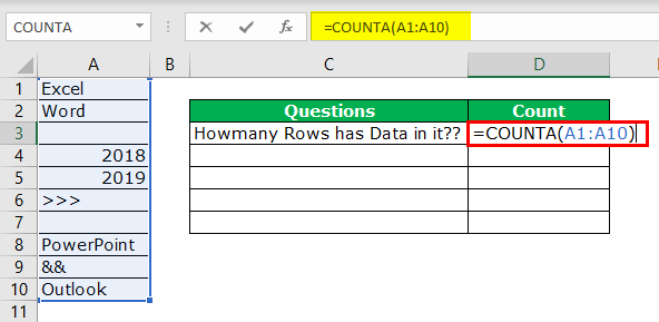 Row Count Example 2