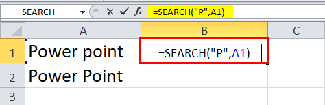 SEARCH Box Function example 2