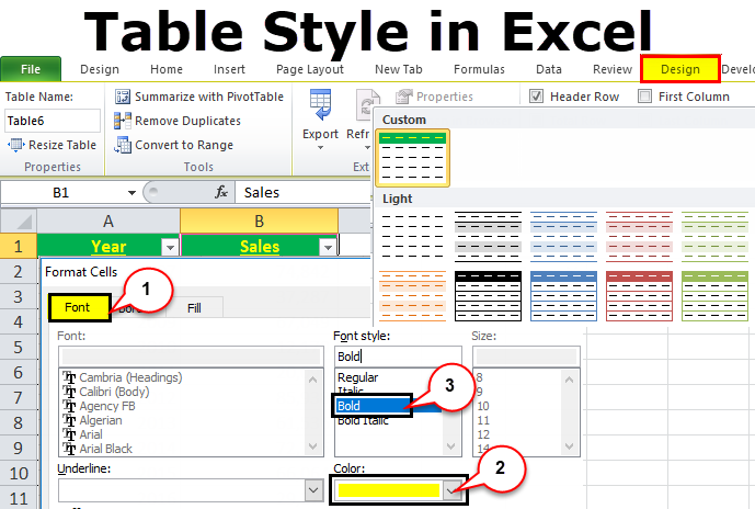 Table Style in Excel