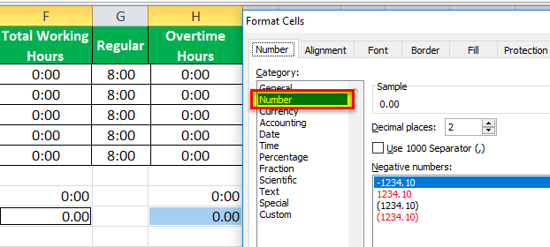 TimeSheet in Excel example 16