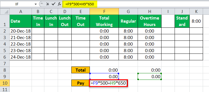 TimeSheet in Excel example 17
