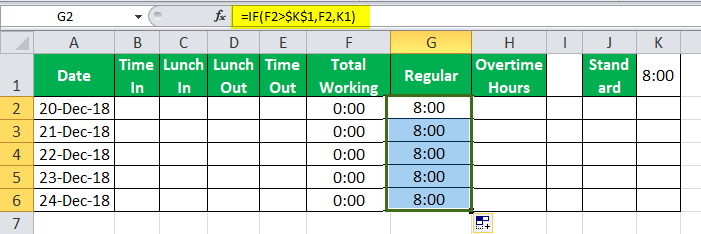 TimeSheet in Excel example 9