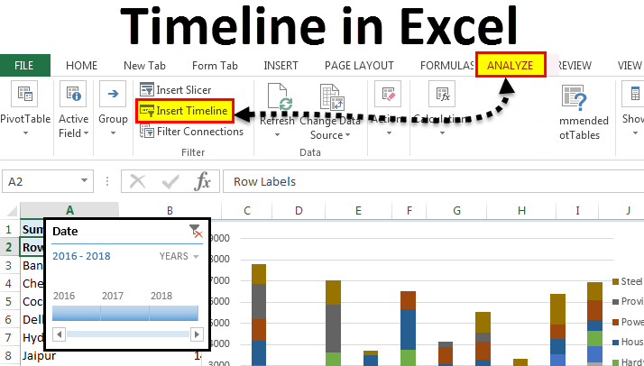 Timeline in Excel | How to Create Timeline in Excel? (Step