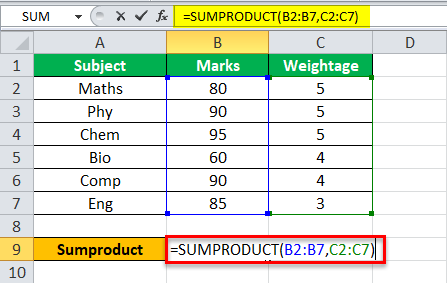 Weighted Average Example 2-1