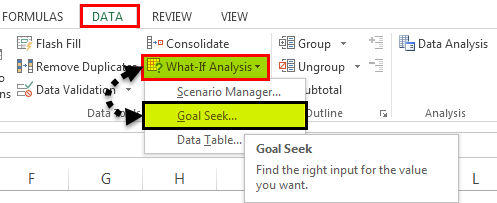 What-if analysis Example 2-3