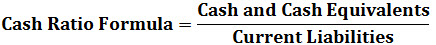 cash ratio formula1