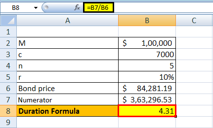 duration formula example 1.3