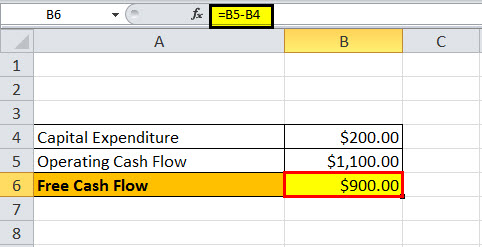 free cash flow formula example1.3