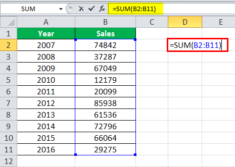 table style in excel example 1