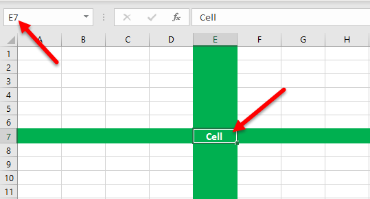 Cell of Excel