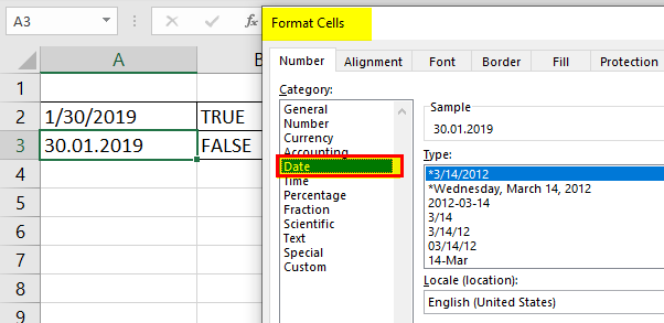 Change the Format of Date 3-1