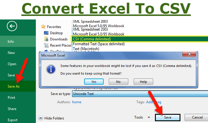 Convert Excel to CSV | How to Convert Export to UTF-8, UTF-16?