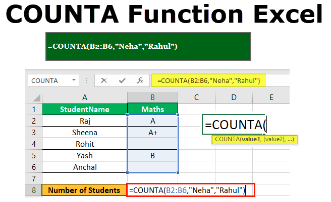 Counta excel function