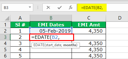 Add Months to Date in Excel Step 3
