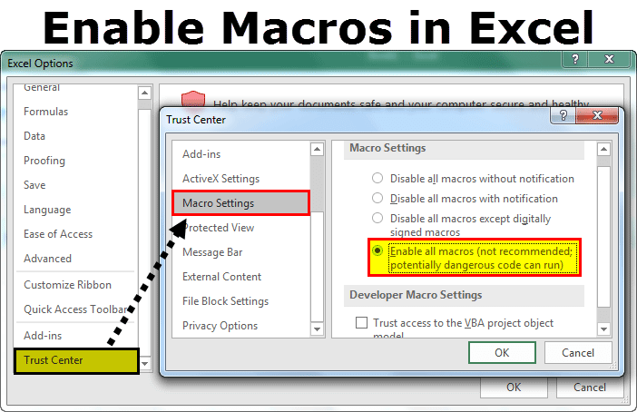 Enable Macros In Excel