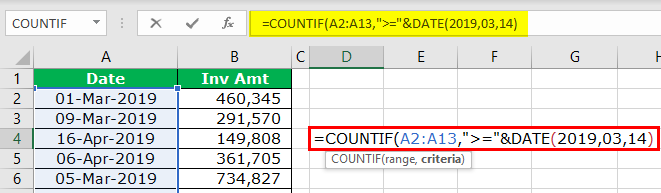 Equal to with COUNTIF Step 5