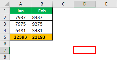 Excel Column to Numbers example 1.2
