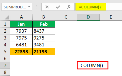 Excel Column to Numbers example 1.3