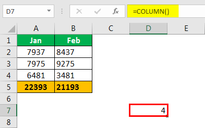 Excel Column to Numbers example 1.4