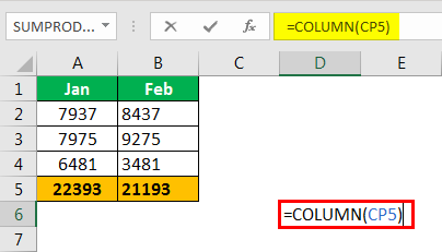 Excel Column to Numbers example 2.1