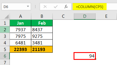 Excel Column to Numbers example 2.2