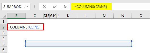 Excel Column to Numbers example 3.1