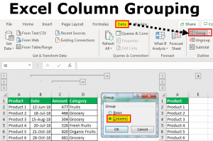 Group Columns in Excel