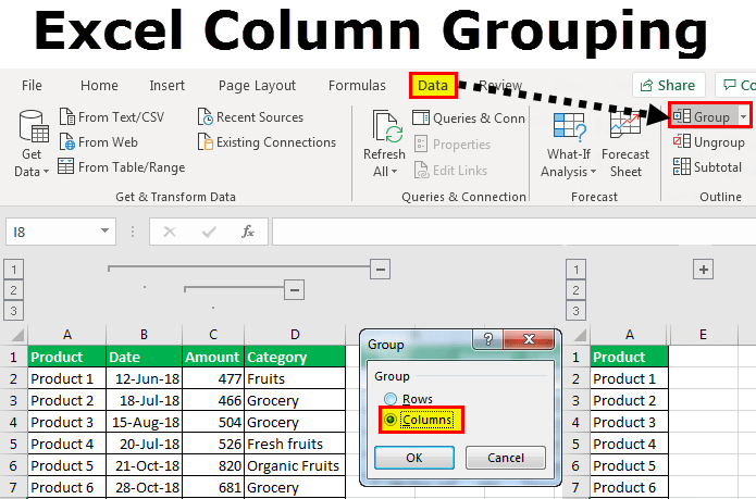 Excel-column-grouping