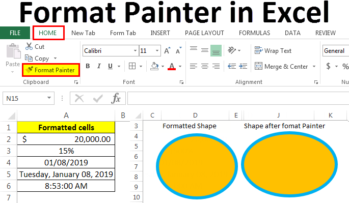 Format Painter in Excel