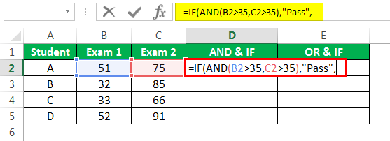 logical Test in excel Example 3-3
