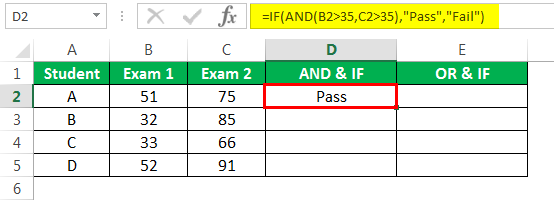 logical Test in excel Example 3-5