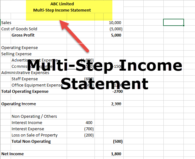 Multi-Step Income Statement 1