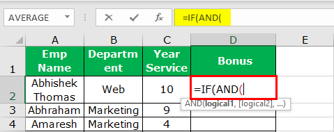 Excel Nested IF Function Example 3-2
