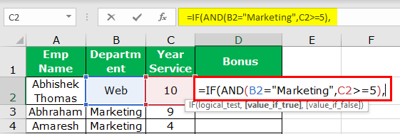 Excel Nested IF Function Example 3-3