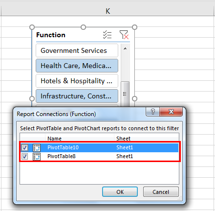 Pivot table Filter example 4.3